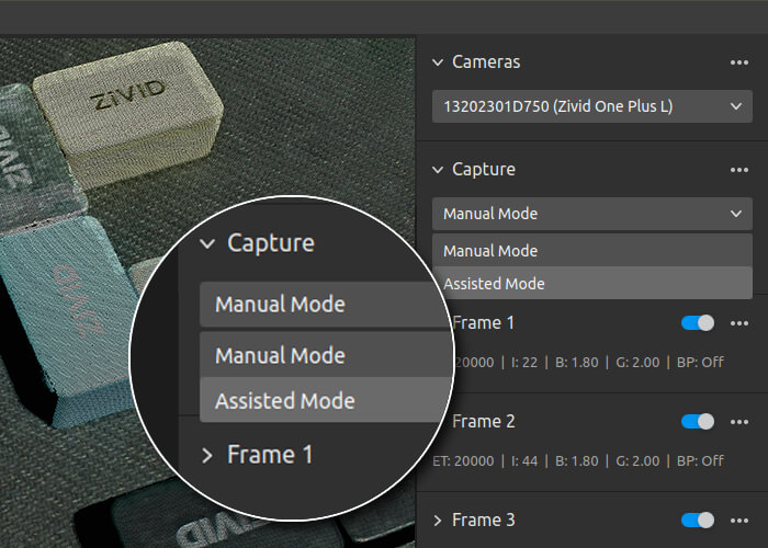 Assisted Mode now default in Zivid Studio