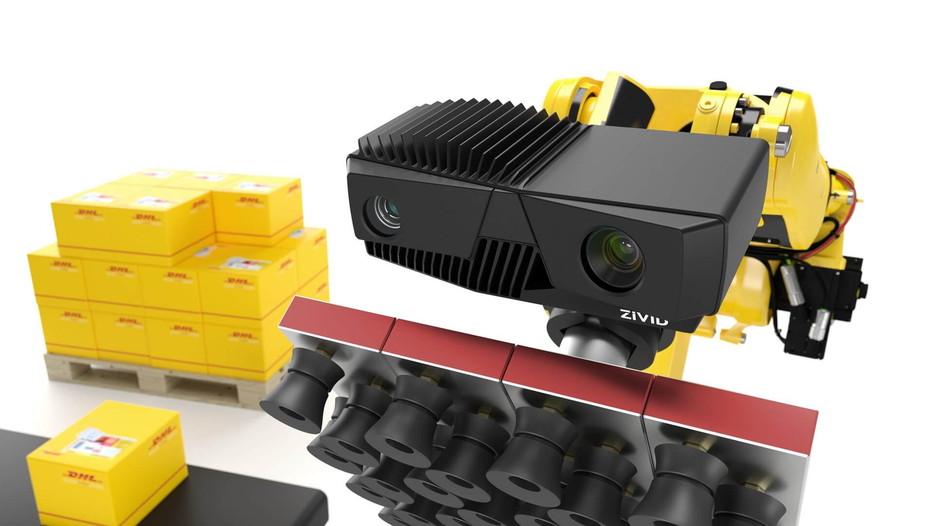 Zivid 3D camera is used by DHL for smart warehousing